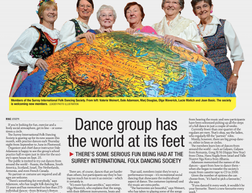 Dance group has the world at its feet