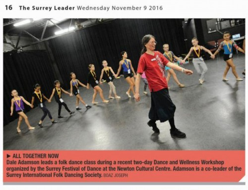 Surrey Festival of Dance Workshop